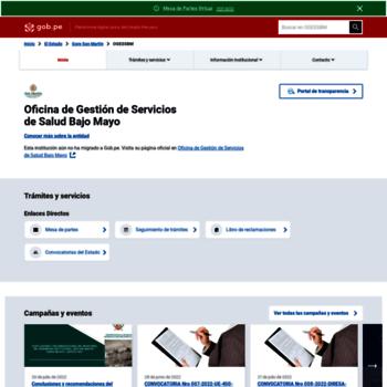 Saludbajomayo.gob.pe thumbnail