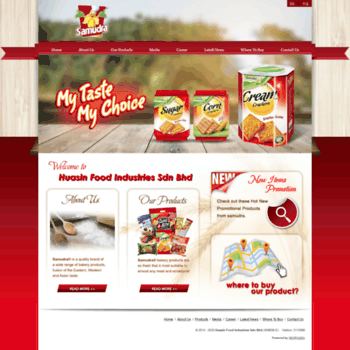 samudrafood com at WI  Biscuit Manufacturer Malaysia, Bakery