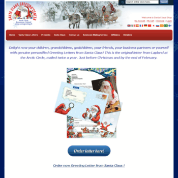 Santagreeting.net thumbnail