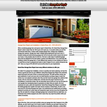 Santarosagaragedoorrepairz At Wi 707 205 3214 Garage Door
