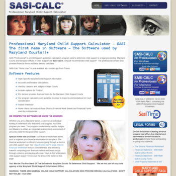 sasi-calc com at WI  Maryland (MD) Child Support, MD Child