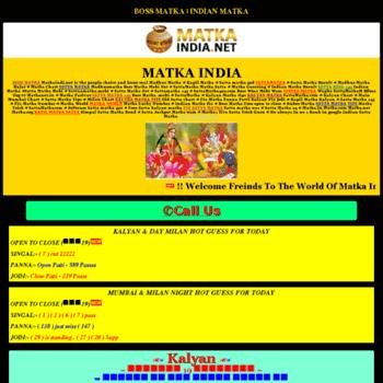sattaamatka net at WI  INDIAN MATKA | BOSSMATKA | SATTA MATKA 143