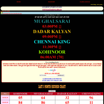 sattaking org in at WI  SATTA KING LIVE RESULT GALI RESULT