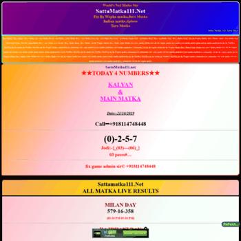 Sattamatka111.net thumbnail