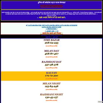 sattamatkacom net at WI  SattaMatka Com | Satta Matka