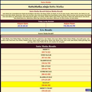 sattamatkasai net at Website Informer  Visit Sattamatkasai