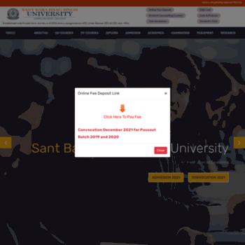 Sbbsuniversity.ac.in thumbnail