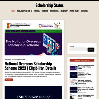 Scholarshipstatus.in thumbnail