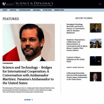 Sciencediplomacy.org thumbnail