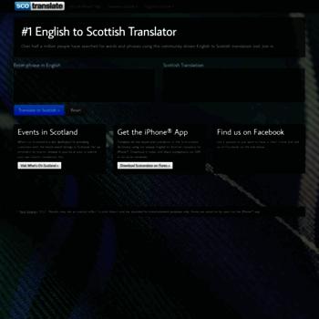 scotranslate com at WI  English to Scottish Slang Translator