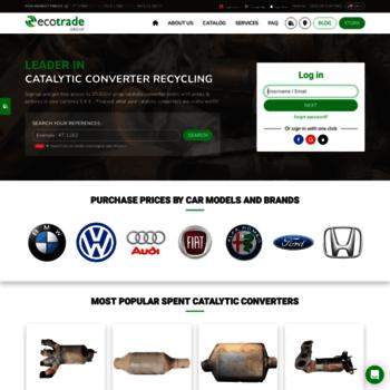scrapcatalyticconverter com au at WI  Ecotrade Group