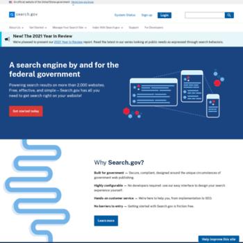 Search.gov thumbnail