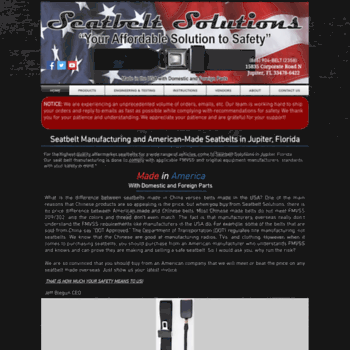 seatbeltsolutions com at WI  Highest quality aftermarket seatbelts
