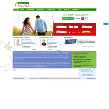 secondwedlock com at WI  Second Marriage|ReMarriage|Second