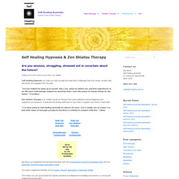 self-healing com au at WI  Self Healing Australia Hypnosis & Zen