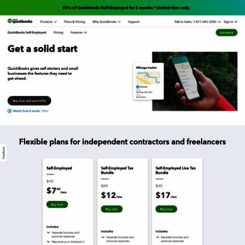 selfemployed intuit com at WI  QuickBooks Self-Employed
