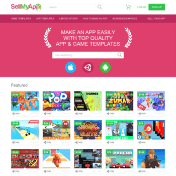 sellmyapp com at WI  Buy Apps & Games Source Code iOS / Android