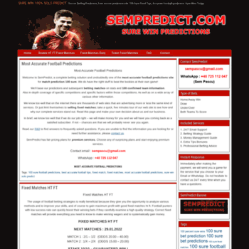 sempredict com at WI  SURE WIN 100% SOLO PREDICT - Soccer Betting
