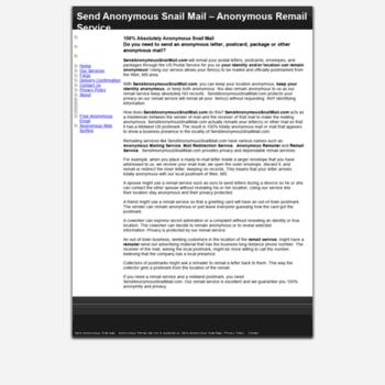 sendanonymoussnailmail com at WI  Send Anonymous Snail Mail