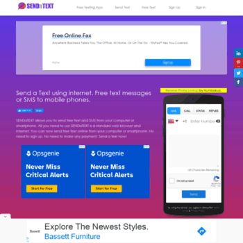 sendatext co at WI  Send & Receive Free Text Messages Online