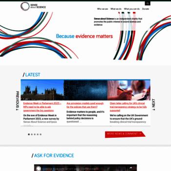 Senseaboutscience.org thumbnail