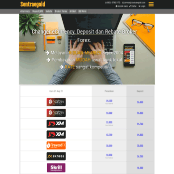 sentraegold com at WI  Changer Indonesia Untuk InstaForex