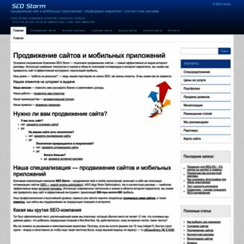 Веб сайт seo-storm.ru