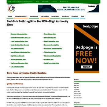seobacklinksites com at WI  SEO Backlink Sites - Link building