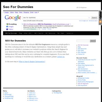 Seofordummies.co.uk thumbnail