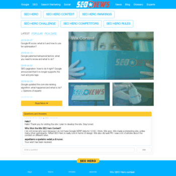 Веб сайт seoheronews.com