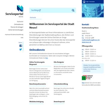Serviceportal-neuss.de thumbnail
