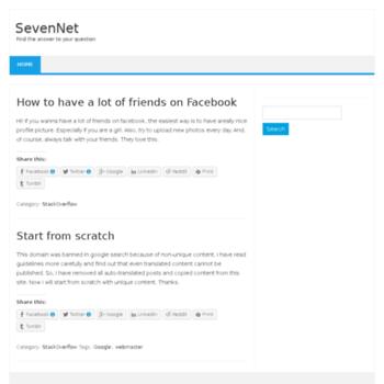 Sevennet.org thumbnail