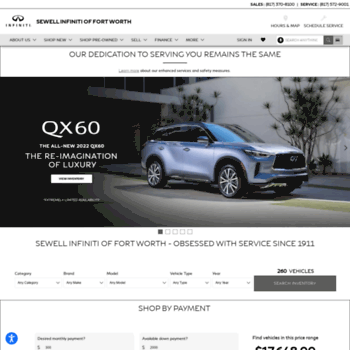 Sewell Infiniti Fort Worth >> Sewellinfiniti Fortworth Com At Wi Experience Sewell