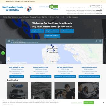 Sf Honda Service >> Sfhonda Com At Wi Honda Dealer San Francisco Sf Bay Area Ca