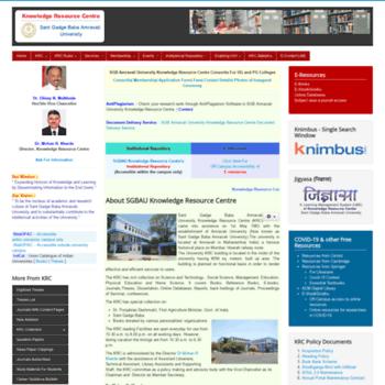 sgbaulib com at WI  Sant Gadge Baba Amravati University