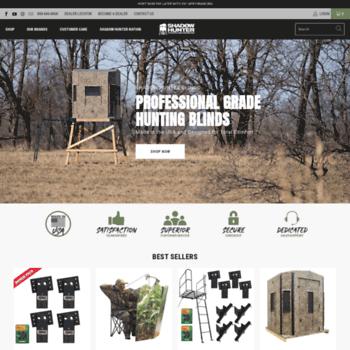 shadowhunterblinds com at WI  Hunting Blinds - Elevators - Ladders