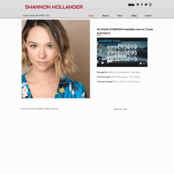 Shannon-hollander.com thumbnail