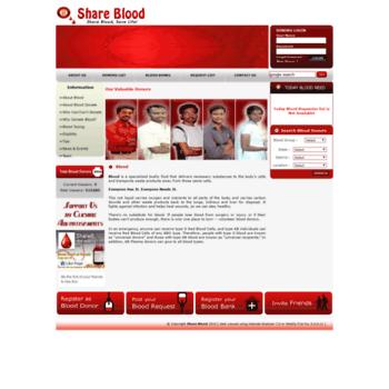 Shareblood.in thumbnail