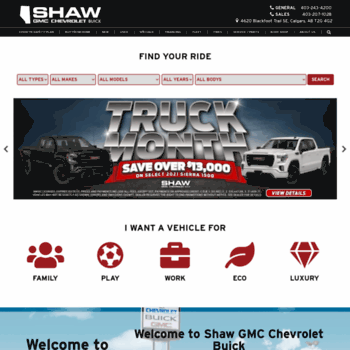 Shaw Gmc Calgary >> Shawgmc Com At Wi New Used Calgary Car Dealership Shaw
