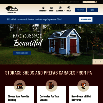 shedsunlimited net at WI  Buy Amish Storage Sheds and Prefab Garages