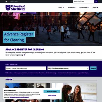 sheffield.ac.uk at WI. A world-class university – a unique student ... d94e18e8441
