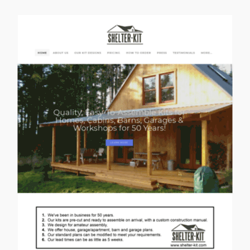 shelter-kit com at WI  Quality Owner-Built Kits for Houses, Barns