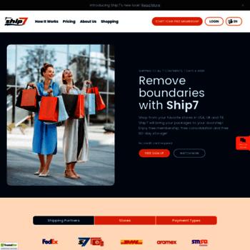 ship7 com at WI  Get Your Free Ship7 Address | How to shop