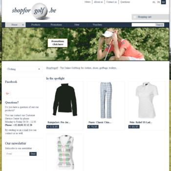 Shopforgolf.be thumbnail
