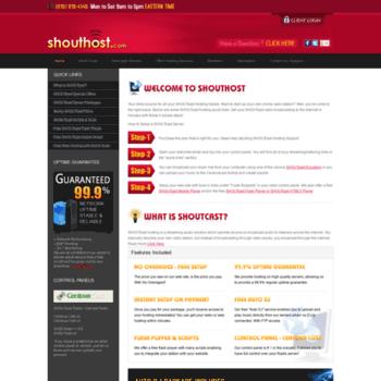 shouthost com at WI  How to Setup a SHOUTcast Server
