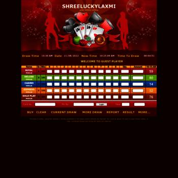 shreelaxmilucky com at WI  play 2Digit Jodi online