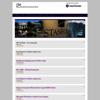 sibliquidation com at WI  Stanford International Bank (SIB