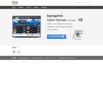 signagelink com at WI  Digital Signage Software - Digital Signage