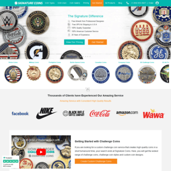 signaturecoins com at WI  Signature Coins: Custom Challenge Coins