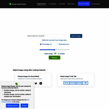 simpleimageresizer com at WI  Simple Image Resizer, resize